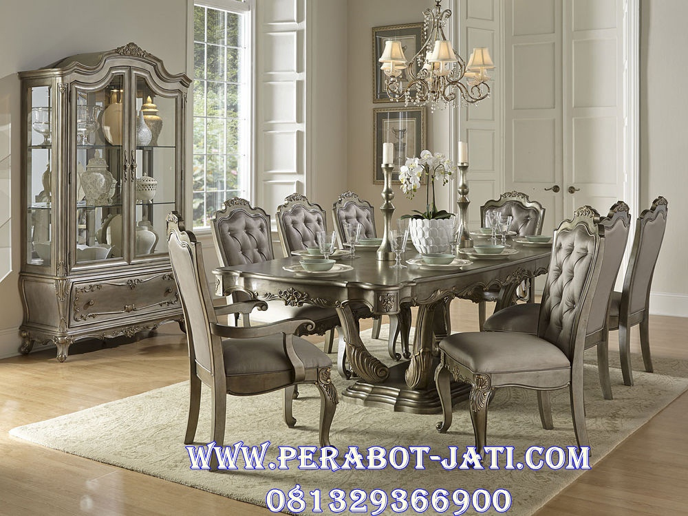Meja Makan Set Klasik Mewah Florent