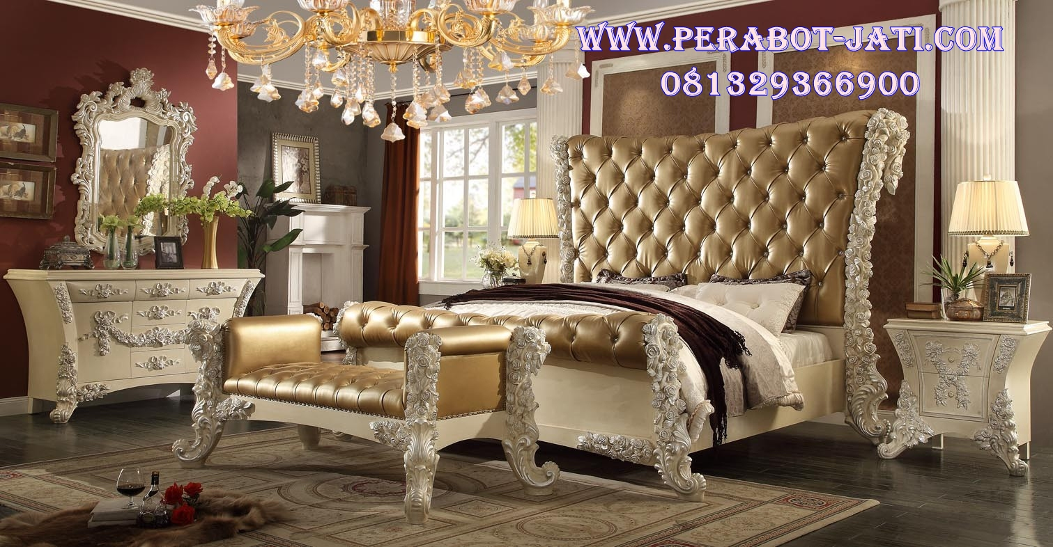Tempat Tidur Utama Ukir Classic Victoria Luxury