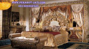 Tempat Tidur Ukir Klasik Mewah Maharaja