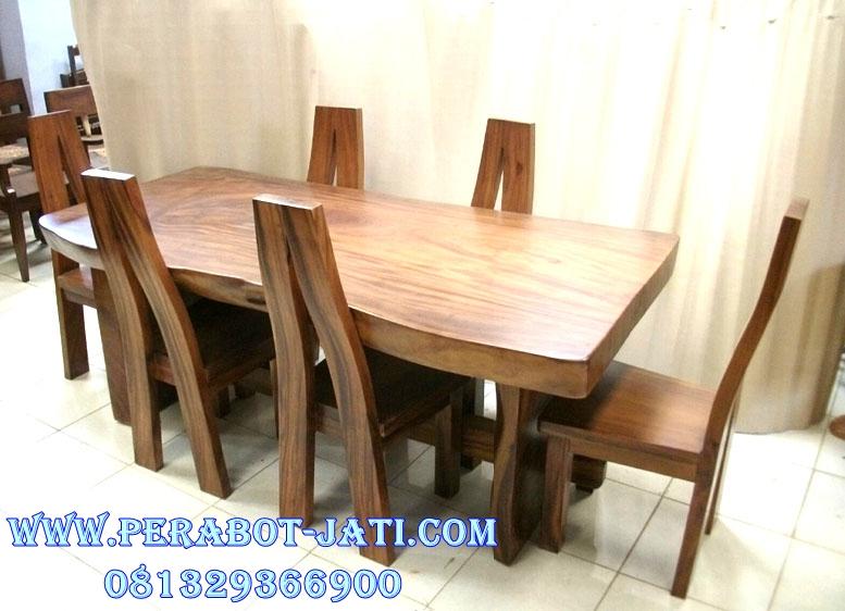 Set Meja Kursi Makan Kayu Trembesi Untuk Meja Kopi