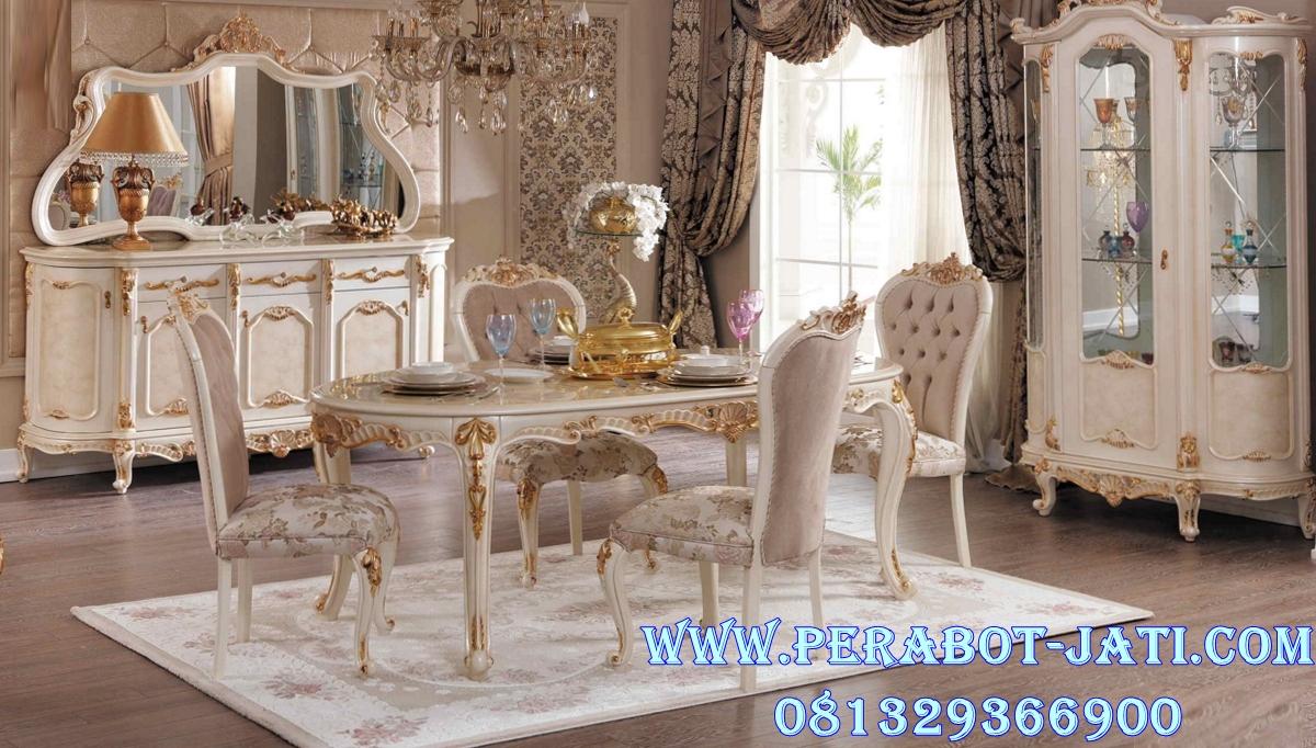 Set Meja Makan Klasik Mewah French Style