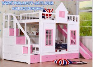 Tempat Tidur Anak Tingkat Bentuk Rumah