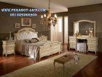 Set Kamar Tidur Mewah dan Elegan Putih Eropa