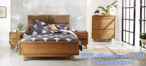 Set Tempat Tidur Retro Desain Minimalis Modern