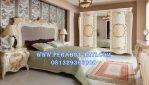 Set Kamar Tidur Pengantin Mewah Ukir Putih
