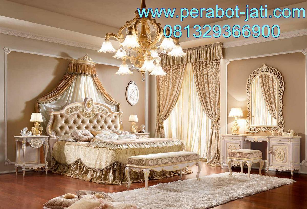 Interior Kamar Tidur Klasik Ukiran Jepara Warna Duco