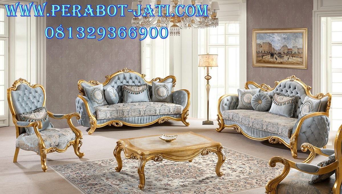 Harga Kursi Sofa Mewah Gold Sefirra
