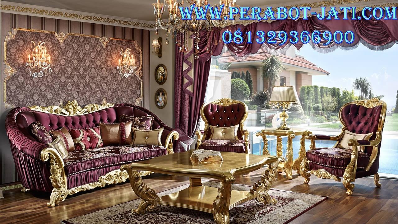 Jual Kursi Tamu Mewah Royal Luxury