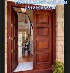 Model Daun Pintu Kupu Tarung Minimalis Kayu Jati