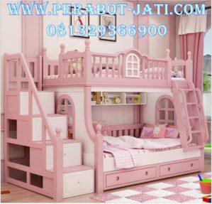 Tempat Tidur Tingkat Mewah Anak Perempuan Luxury