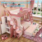 Ranjang Susun Mewah Warna Pink Cute