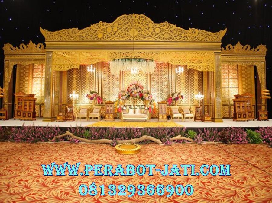 Dekorasi Pelaminan Adat Palembang Ukiran Jepara