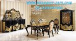 Design Set Meja Makan Klasik Gold Waldorf