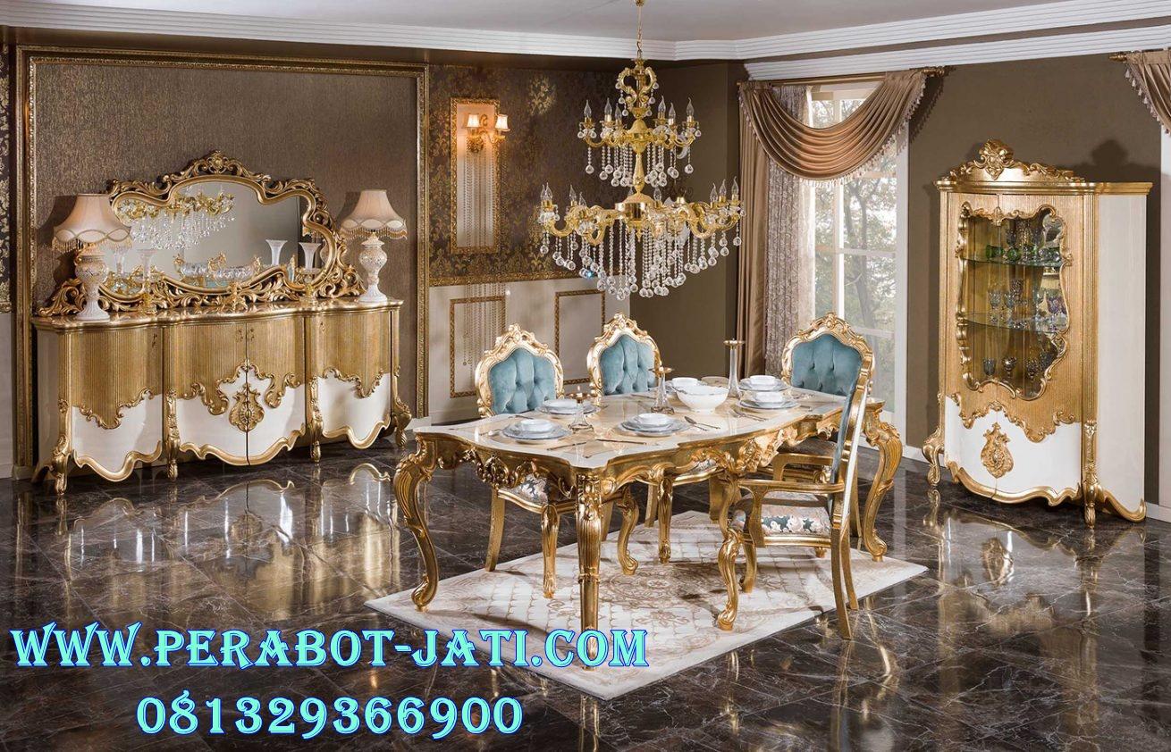 Model Meja Makan Klasik Gold Naira