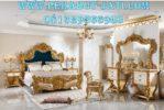 Desain Set Kamar Tidur Eropa Ukiran Gold