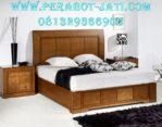 Set Tempat Tidur Jati Minimalis Mewah Jepara