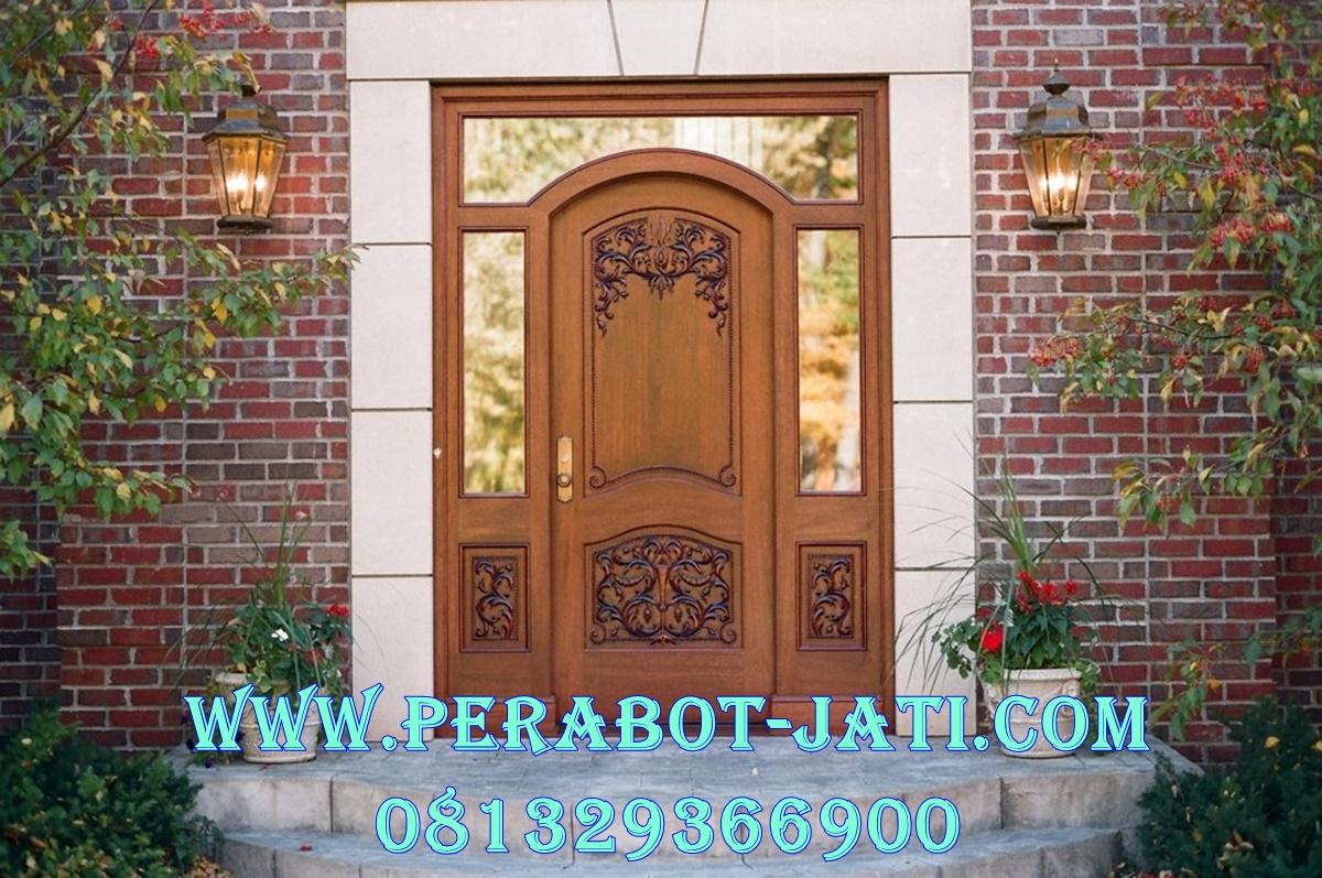 Pintu Utama Single Sambung Jendela Gendong