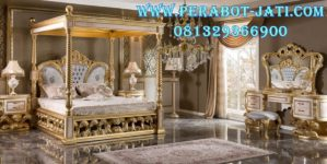 Tempat Tidur Pengantin Kanopi Mewah Angelina