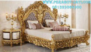 Set Kamar Tidur Utama Elegan Ukir Gold