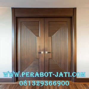 Model Daun Pintu Double Mewah Kayu Jati TPK
