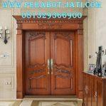 Set Kusen Pintu Double Rumah Mewah Ukir Istana