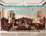 Set Sofa Ruang Tamu Mewah jati Ukir Jepara Wooden