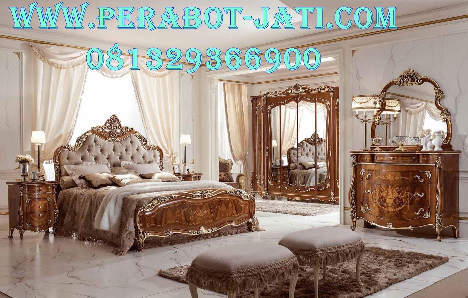 Bed Set Tempat Tidur Jati Mewah Romawi