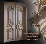 Daun Pintu Klasik Dan Kusen Kupu Tarung Ukir Gold Jepara