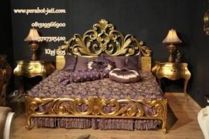 Kamar Tidur Mewah Ukir Gold