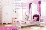 Kamar Tidur Anak Princess Cat Duco Pink-Perabotan Kamar Tidur Jati Jepara
