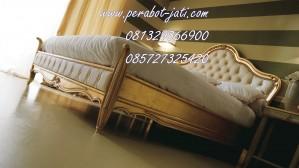 Tempat Tidur Ukir Minimalis Mewah Perabot Jati
