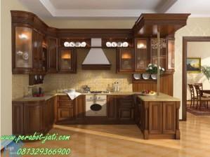 Desain Kitchen Set Jati Terbaru