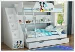 Tempat Tidur Anak Tingkat Dan Sorong Karakter Micky Mouse