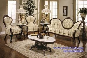 Kursi Sofa Tamu Klasik Kayu Mahoni Victorian