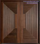 Daun Pintu Rumah Kupu Tarung Ukir 3D Model Piramida