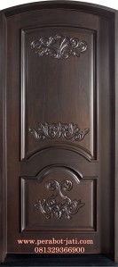 Pintu Single Ukir Kayu Mahoni Murah
