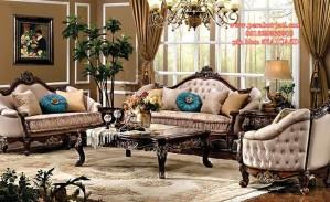 Set Kursi Tamu Sofa Ukir Mewah Victorian
