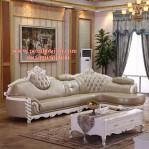 Kursi Sofa Mewah Sudut Ruang Tamu Duco