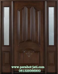 Kusen Daun Pintu Single Kayu Jati