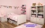 Model Tempat Tidur Anak Dan Rak Buku Cat Pink