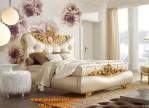 Jual Tempat Tidur Romantis Utama Ukir Gold Full Jok