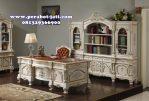 Set Furniture Meja Kantor Klasik Putih