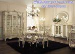 Set Kursi Makan Putih Meja Bundar Klasik