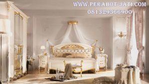 Set Ranjang Tempat Tidur Gold Ivory Mewah Prada