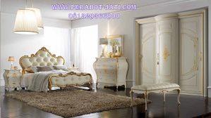Set Kamar Tidur Minimalis Klasik Lengkung Gold
