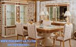 Set Kursi Makan Mewah Minimalis Gold Barcelona